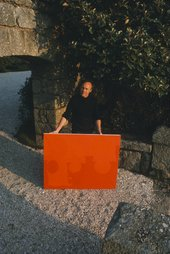 Patrick Heron at Eagles Nest, photographed by Delia Heron, c.1965 - (c) The Estate of Patrick Heron. All rights reserved, DACS 2018