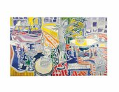 Patrick Heron, Christmas Eve - 1951, oil paint on canvas, 182.9 x 304.8 cm - (c) The Estate of Patrick Heron. All rights reserved, DACS 2018, courtesy The Frank Cohen Collection