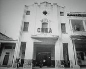 Photograph of a decaying Cuban cinema