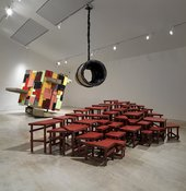 Sculptural installation in a gallery space.