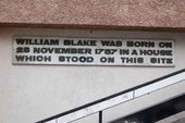 Commemorative plaque, William Blake House, Broadwick Street