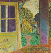 Pierre Bonnard, Door opening onto the Garden, c1924, oil paint on canvas, 109 x 104 cm - Private collection, courtesy of Jill Newhouse Gallery, New York