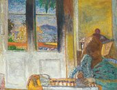 Pierre Bonnard, The French Window, 1932, oil paint on canvas, 86 x 112 cm - Private collection