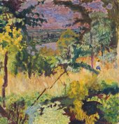 Pierre Bonnard, View of the River, Vernon, 1923, oil paint on canvas, 48.3 x 45.7 cm - National Galleries of Scotland, photo- Antonia Reeve