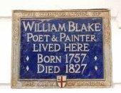 Plaque commemorating William Blake at 17 South Molton Street
