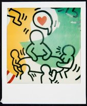 Polaroid of Keith Haring artwork
