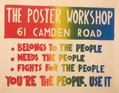 Poster promoting the use of the Poster Workshop in Camden, 1968
