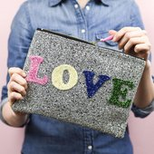 Photograph of bag with the word love on it