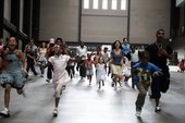 Families in the Turbine Hall
