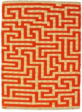 Anni Albers Red Meander 1954 Linen and Cotton