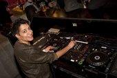 DJ Ritu at her turntables