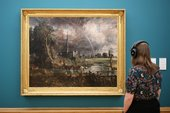 Listen to Constable's Salisbury Cathedral from the Meadows