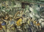 Reginald Marsh, Sorting the Mail (detail) 1936, Ariel Rios Federal Building, Washington, D.C.