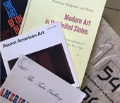 Selection of books related to the history of American art at Tate