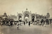 Photograph of the Hussainabad Gate, Lucknow, from Richard Glynn Vivian's Travel Album: India, 1871. City & County of Swansea: Glynn Vivian Art Gallery Collection