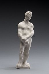 Auguste Rodin Male Nude Standing with the Head of Slavic Woman