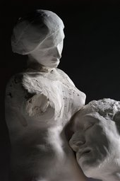 Auguste Rodin Assemblage: Female torso with the head of Woman with a Bun and head of Pierre de Wissant, reduction