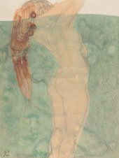 Auguste Rodin Female nude in profile with loose hair c.1895–1910