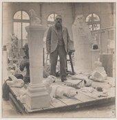 Rodin in his studio in Meudon, c.1902. Photo by Eugène Druet, Musée Rodin