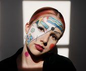 photo of person wearing kandinsky-inspired makeup
