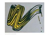 Roy Lichtenstein Brushstroke (poster)