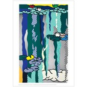 Lichtenstein's Water Lillies with Cloud artwork