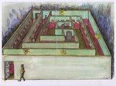 Drawing for Ilya Kabakov's Labyrinth (My Mother's Album), 1990