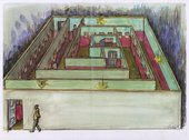 Drawing for Ilya Kabakov's Labyrinth (My Mother's Album), 1990