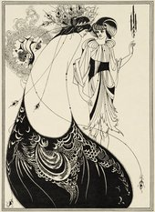 Image caption: Illustration for Oscar Wilde's Salome 1893, The Peacock Skirt. Stephen Calloway. Photo: © Tate
