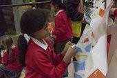 Children taking part in a schools workshop at tate modern