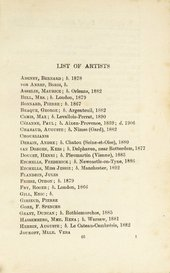 List of artists included in the Second Post-Impressionist Exhibition at the Grafton Galleries in London. Courtesy Tate Archive