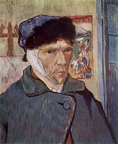 Vincent van Gogh Self-Portrait with Bandaged Ear 1889