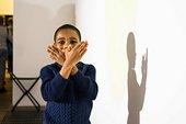 boy shadow puppet