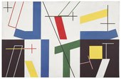 Sophie Taeuber-ArpSix Spaces with Four Small Crosses1932. Oil paint and graphite on canvas 65 × 100. Kunstmuseum Bern. Gift of Marguerite Arp-Hagenbach