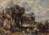 John Constable Sketch for 'The Hay Wain' c.1820 Oil on paper on panel Courtesy the Yale Center for British Art, Paul Mellon Collection