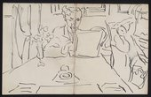 Sketch of Roger Fry by Vanessa Bell © Tate Archive