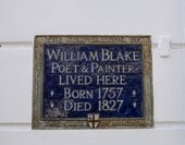 A plaque memorialising where Blake lived on South Molton Street, London
