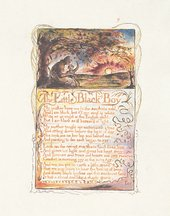 William Blake, Songs of Innocence and of Experience,1794 open at'The Little Black Boy'