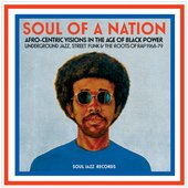 Record cover with a portrait painting of a man with an afro and wearing sunglasses