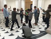Kids in sound art workshop at Tate Britain