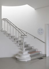 staircase with handrail at Tate St Ives.