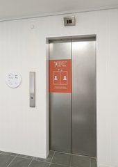 Entrance to the lifts at Tate St Ives.