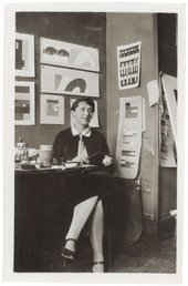 Sophie Taeuber-Arp in the planning office for the Aubette, Strasbourg, France, 1927