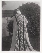 Photograph of Duncan Grant in a costume designed by himself and Vanessa Bell for Jacques Copeau's New York production ofPellèas and Melisande© Tate