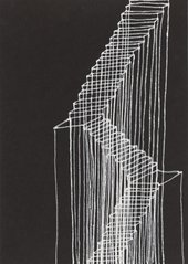 drippy graphic drawing of some stairs