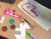 Stencils and paint
