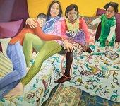 Aliza Nisenbaum Susan, Aarti, Keerthana and Princess, Sunday in Brooklyn 2018 Oil on linen 145cm x 162.6cm  Courtesy the artist and Anton Kern Gallery, New York/ © Aliza Nisenbaum