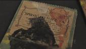 Film still of Graham Sutherland's sketchbook