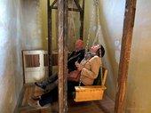 Theaster Gates, Visitors on swinging bench, 2012 Photo: Katherine Finerty