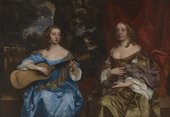 Fig.1 Sir Peter Lely 1618‒1680 Two Ladies of the Lake Family c.1660 Oil paint on canvas 1264 x 1814 mm T00058